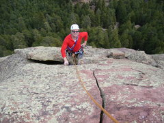 Rock Climbing Photo: Rick below the beautiful but way too short crack.