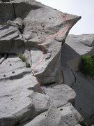 Rock Climbing Photo: the 2nd pitch