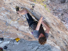 Rock Climbing Photo: Staying focused and committed on the upper section...