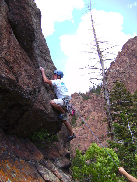 Rock Climbing Photo: The low crux. burly.