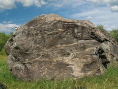 Rock Climbing Photo: Some say it is a glacial boulder but all the local...
