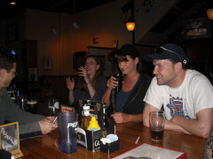 Rock Climbing Photo: Jeanne tellin stories....look at those devil eyes!...