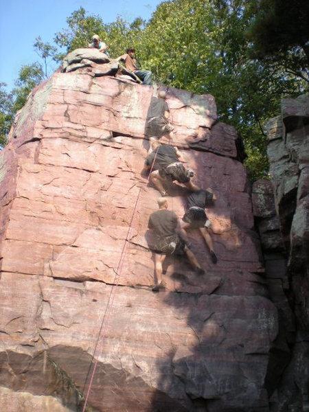 Rock Climbing Photo: Progression up Darcy's Wall