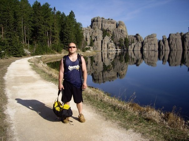 At Sylvan Lake in Custer State Park in the spring of 2008
