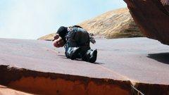 Rock Climbing Photo: Leading Supercrack.