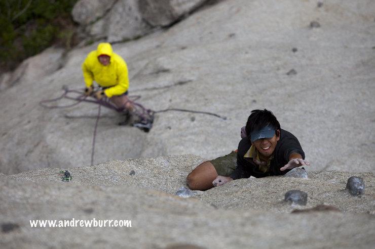 Rock Climbing Photo: actual 2nd ascent (w/ rain)