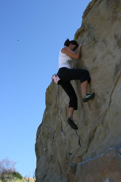 Rock Climbing Photo: me on Boulder 1