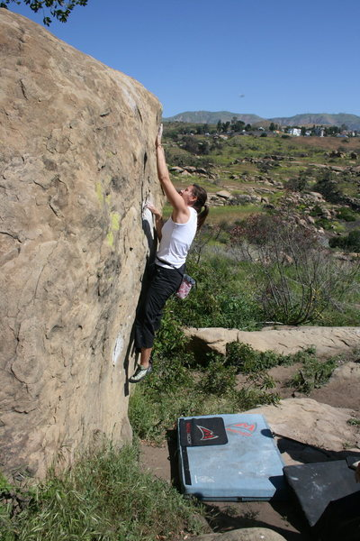 Rock Climbing Photo: working on Scorpion