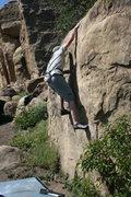 Rock Climbing Photo: Nathan finishing Scorpion