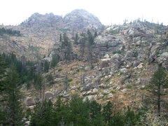 Rock Climbing Photo: The Boulder Milks of Walker Ranch from the trailwa...