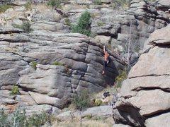 Rock Climbing Photo: The classic Ranch Wall, Boulder Milks, Walker Ranc...