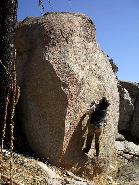Rock Climbing Photo: The Milk Dud of Walker Ranch, Boulder Milks.