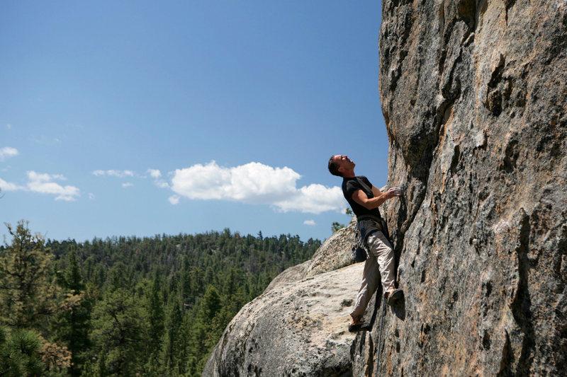 "Rock Climbing Photo: leading ""Lost orbit""  photo by Adam Kimm..."