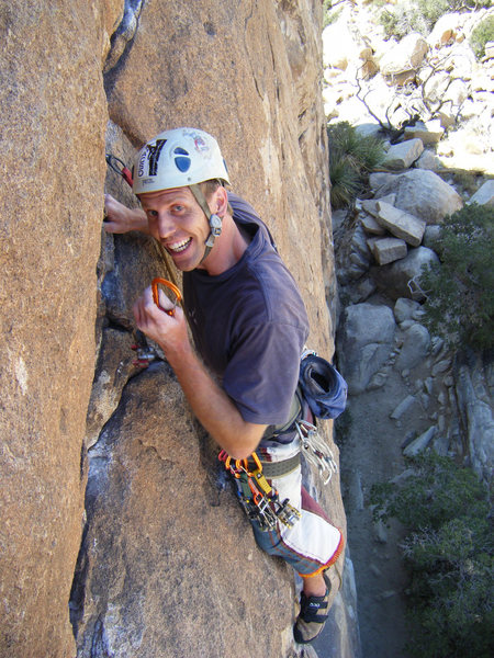 Rock Climbing Photo: Josh does not look pumped after passing the crux ....