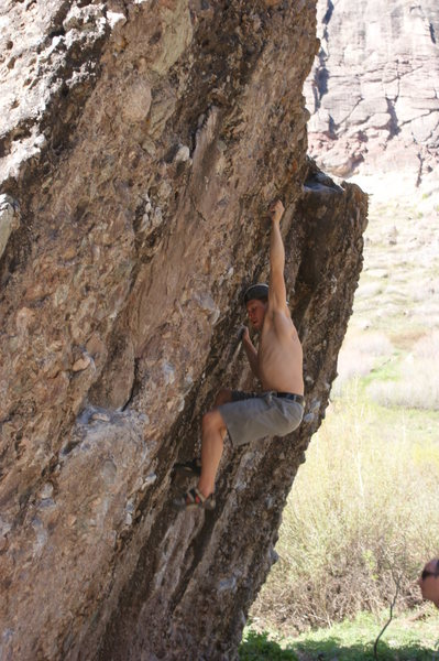 Rock Climbing Photo: Drew, bouldering Telluride.