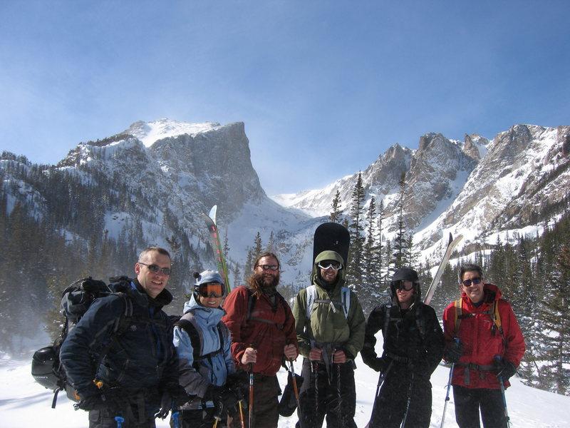 Avy 1 course through Colorado Mountain School at RMNP.  I'm the boarder in the shot.