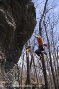 Rock Climbing Photo: Me falling off of Payment Plan on the onsight atte...