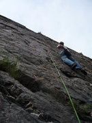 Rock Climbing Photo: Excellent slab climbing!
