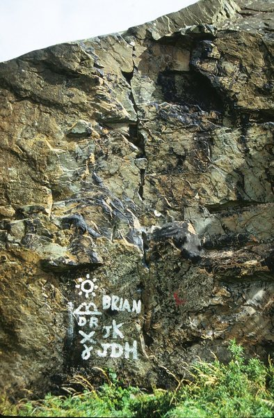Rock Climbing Photo: A steep crack line on the seaward side of Eagle Bo...