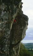 Rock Climbing Photo: Tim mid way up Coffin Corner, with a climber on Co...