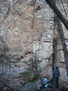 Rock Climbing Photo: Electra 10c at front side of David's Castle
