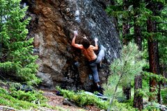 Rock Climbing Photo: Jables in the middle of the crux.