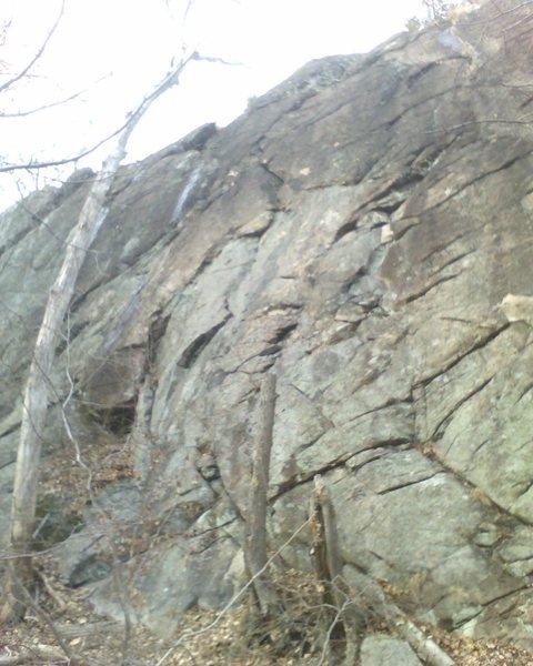 Rock Climbing Photo: Pizza Face slab 5.1