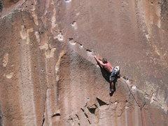 Rock Climbing Photo: Starting the traverse.