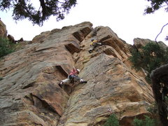 Rock Climbing Photo: Trad and sport peacefully coexisting.