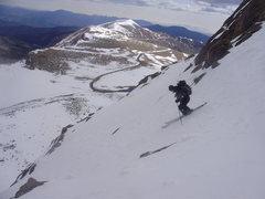 Rock Climbing Photo: Skiing the same line as many of Jason's photos.
