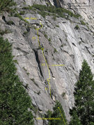 Rock Climbing Photo: Absolutely Free Center (and Left)