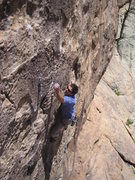 Rock Climbing Photo: Tarry bearing down.