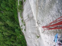 Rock Climbing Photo: From the base of the Sword, looking down on Mercy ...