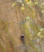 "Rock Climbing Photo: John near the end of ""Hot Tamale"""