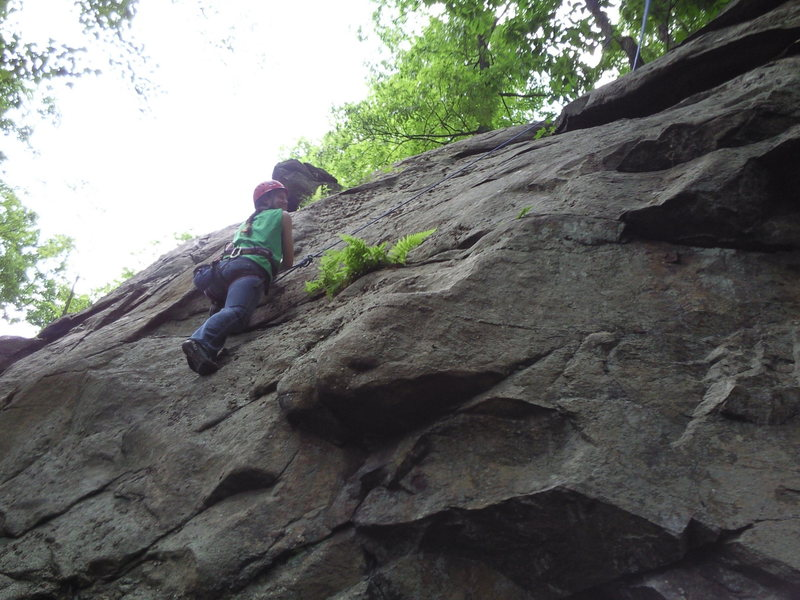 Rock Climbing Photo: Kimberly on the face 5.9 'Unamed'