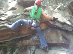 Rock Climbing Photo: Kimberly in some of the first moves