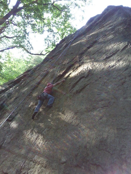 Rock Climbing Photo: Joey top-roping 'A Year in the Life' (Left Start) ...