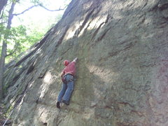 Rock Climbing Photo: Joey top-roping the start of 'A Year in the Life' ...