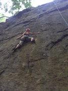 Rock Climbing Photo: KJ working the route!