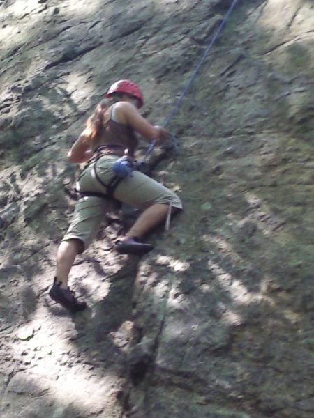 Rock Climbing Photo: KJ on 'Hourglass'