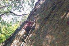 Rock Climbing Photo: Joey on 'Hourglass'