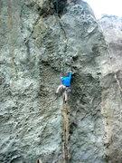 Rock Climbing Photo: Tom working Osteoporosis (5.11b/c)