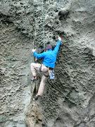 Rock Climbing Photo: Tom Ogden working Osteoporosis (5.11b/c)