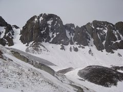 Rock Climbing Photo: American Peak Couloirs from American Basin
