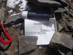 Rock Climbing Photo: Handies Peak summit