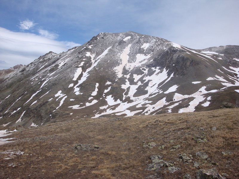 Handies Peak from American Peak saddle with Grouse Gulch