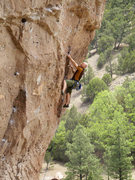 Rock Climbing Photo: Jabberwocky action.