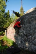 Rock Climbing Photo: Climbing at the Service Boulder in Anchorage