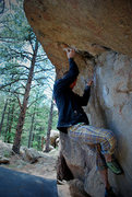 Rock Climbing Photo: Wiley Evans sending Pac-Man!!!!