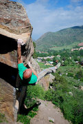 """Rock Climbing Photo: Wiley Evans styling on """"The Squirming Coil.&q..."""